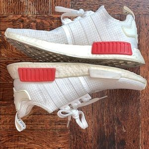 Adidas NMD R1 Off White Lush Red Sneaker